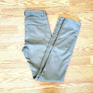 H&M   Olive Skinny Pants